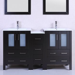 Modern 60 inch  Double Bathroom Vanity Set