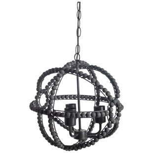 Bungalow Rose Rawson 3-Light Globe Chandelier