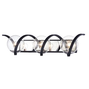 Affordable Louden Curlicue 3-Light Vanity Light ByIvy Bronx