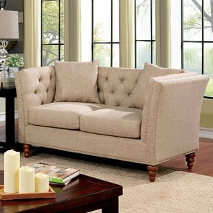 Carlock Contemporary Loveseat by Alcott Hill