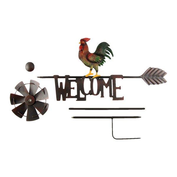 Metal Rooster Yard Art Wayfair
