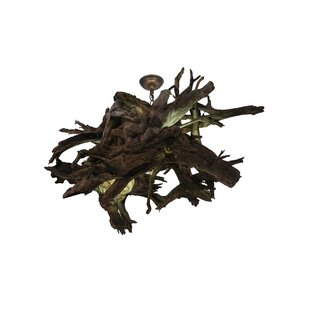 Meyda Tiffany Greenbriar Oak 4-Light Novelty Pendant