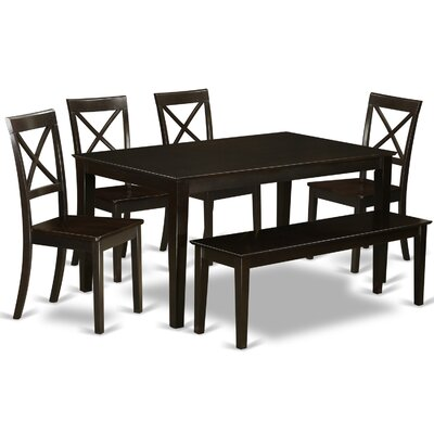 Smyrna 6 Piece Dining Set Charlton Home Color: Cappuccino