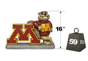 Minnesota Golden Gopher College Mascot Statue By Henri Studio