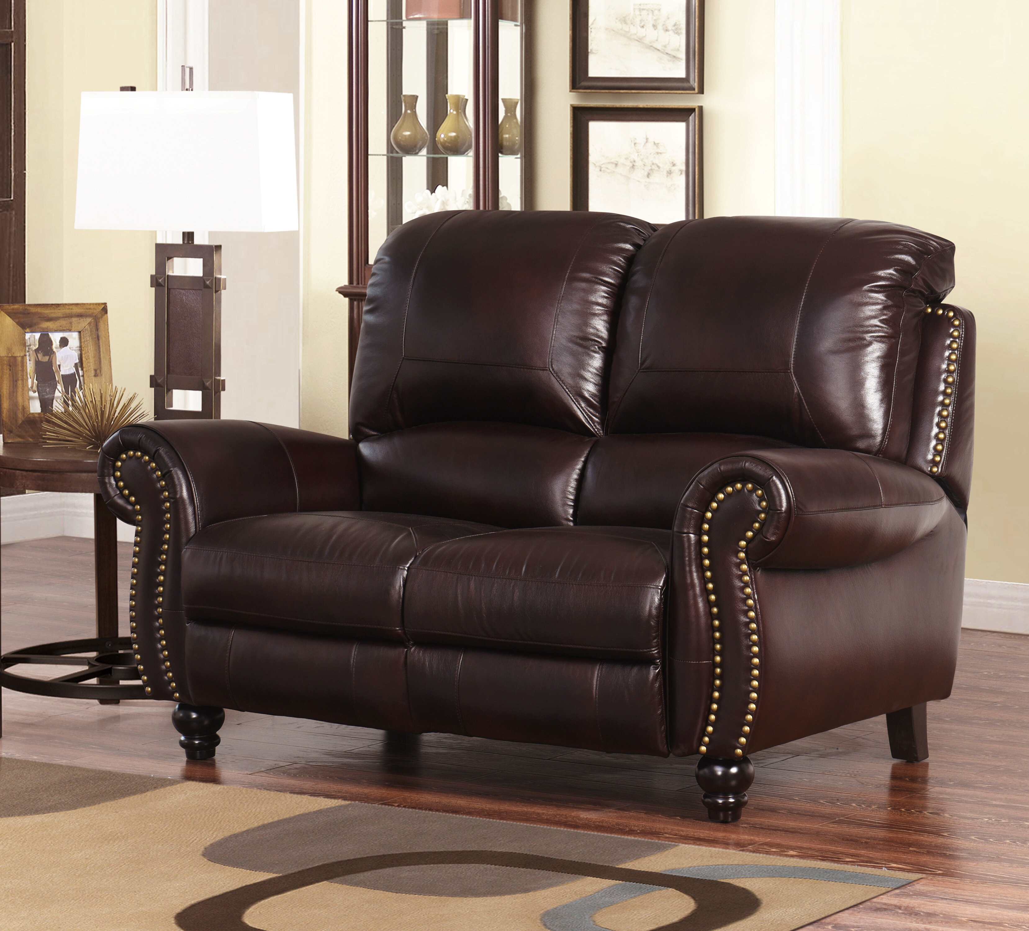 Peachy Williston Forge Tanguay Leather Reclining Loveseat Reviews Cjindustries Chair Design For Home Cjindustriesco
