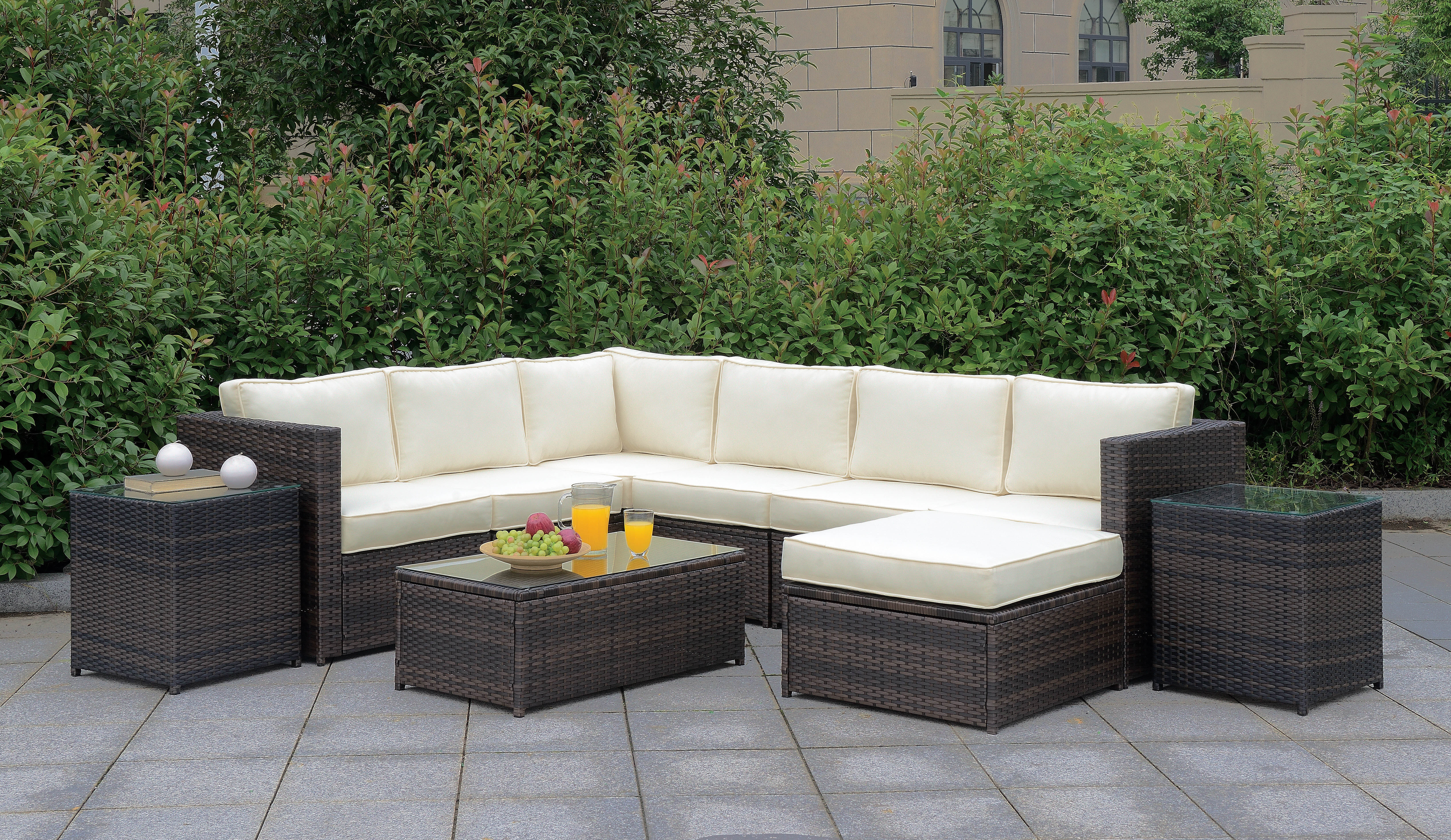 Ebern Designs Morrell 10 Piece Complete Patio Set With Cushions Reviews Wayfair