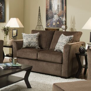 Simmons Upholstery Chestnut Loveseat
