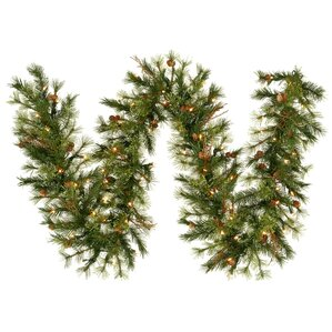 Faux Pre Lit Country Pine Garland