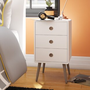 Aedesia 3 Drawer Bedside Table By Wrought Studio
