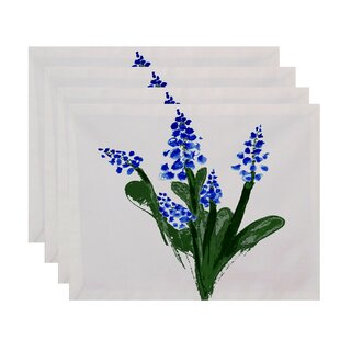 Laymon Bluebell 18 Placemat (Set of 4) by Gracie Oaks