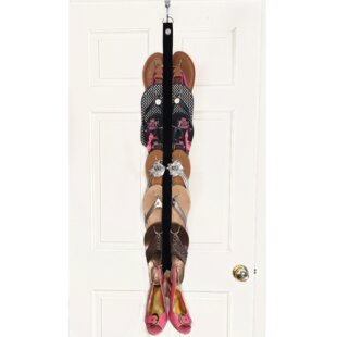 Compare prices Flip Flop 7 Pair Hanging Shoe Organizer By Rebrilliant