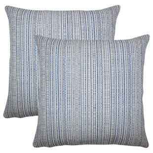 Sigsbee Striped Cotton Throw Pillow (Set of 2)