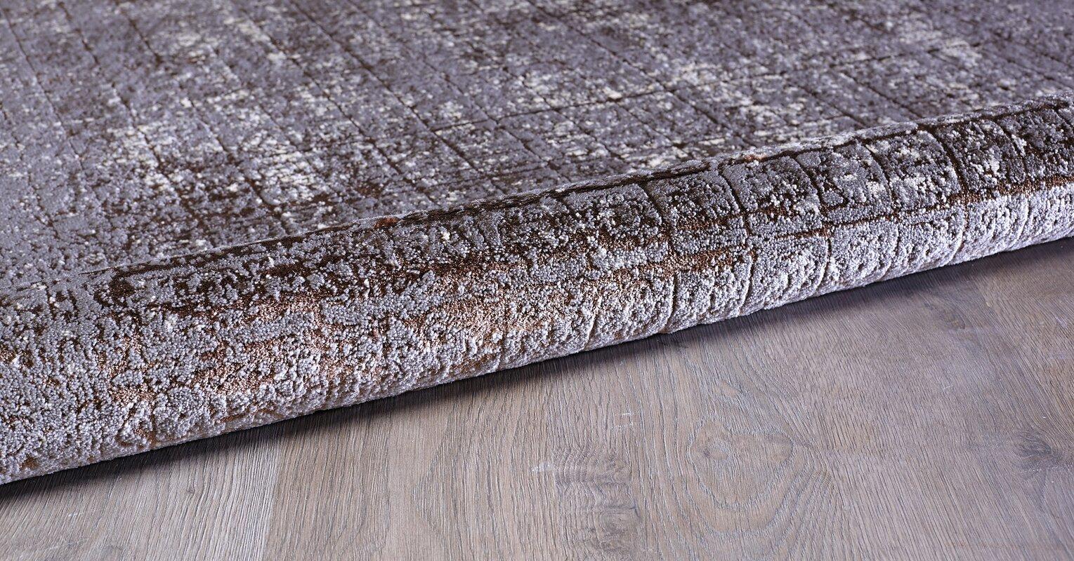 Williston Forge Teppich Lacey Modern Vintage in Dunkelgrau/Beige ...