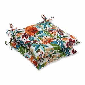 Guadaloue Fastene Outdoor Dining Chair Cushion (Set of 2)