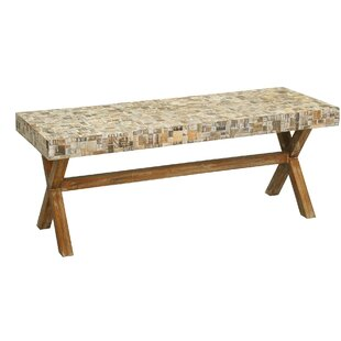 Rosecliff Heights St. Lucie Cross Wood Bench