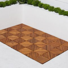 Acacia Wood Outdoor Deck Tiles Planks You Ll Love In 2021 Wayfair