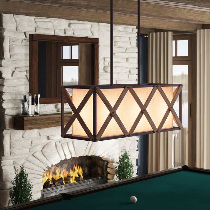 Hominy 3-Light Kitchen Island Square / Rectangle Pendant