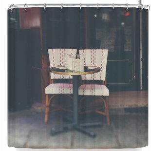 Laura Evans A Paris Cafe Single Shower Curtain