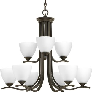 Van Reipen 9-Light Shaded Chandelier by Winston Porter