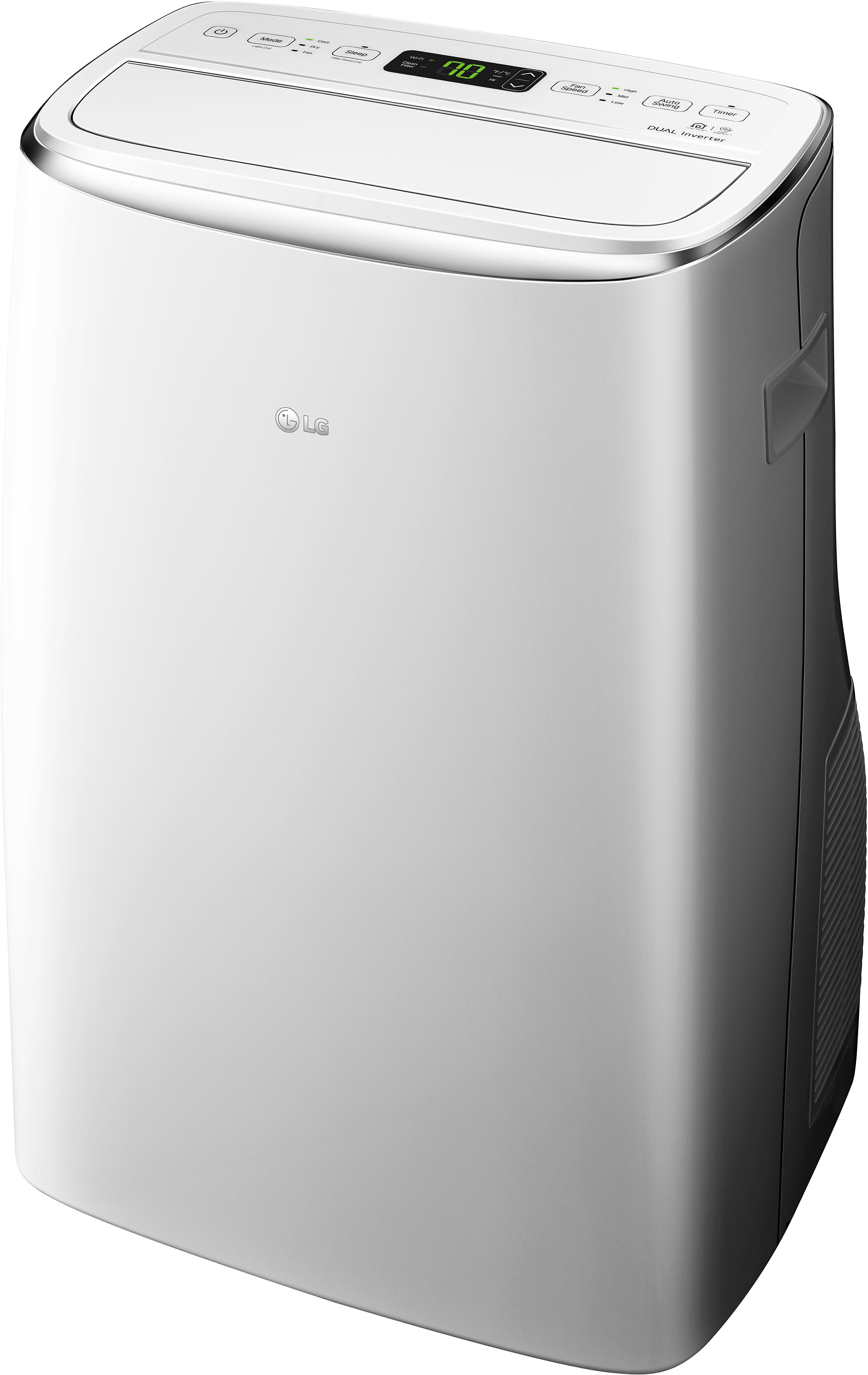Keystone Lg Dual Inverter 10 000 Btu Portable Air Conditioner With Remote And Wifi Control Reviews Wayfair