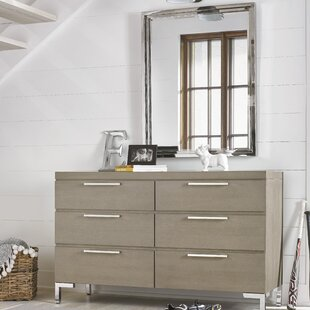 Hazen 6 Drawers Double Dresser with Mirror