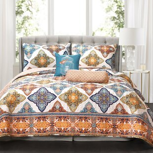 Cherie 5 Piece Reversible Quilt Set