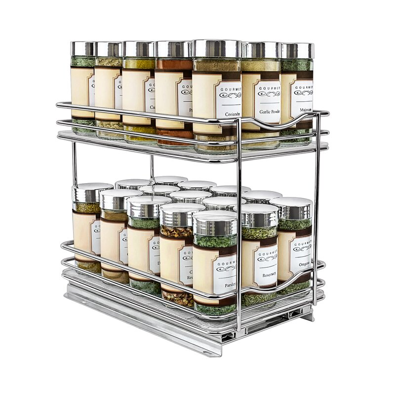 Lynk Professional Slide Out Spice Rack Two Tier 6 Inch Wide Wayfair