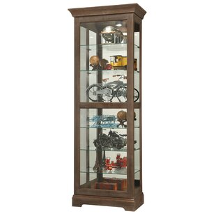 Darby Home Co Bricelyn Lighted Curio Cabinet