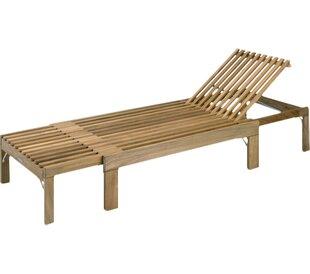Skagerak Denmark Riviera Reclining Teak Chaise Lounge