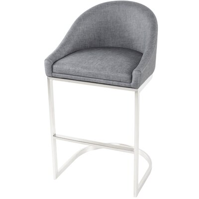 "26"" Bar Stool Upholstery: Charcoal by Wade Logan"