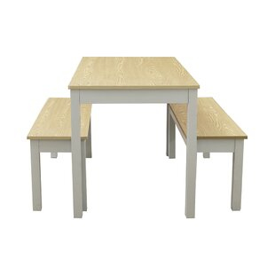 Delrio Dining Set With Two Benches By Brambly Cottage
