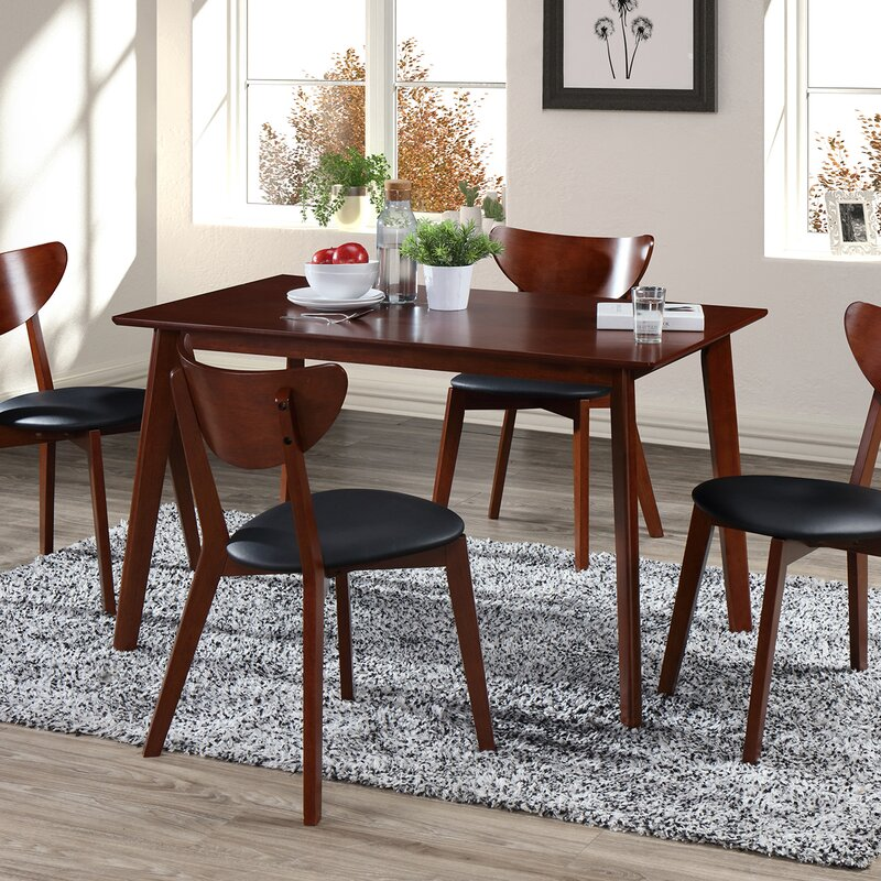 5 Piece Dining Sets george oliver bulgera modern wood 5 piece dining set & reviews