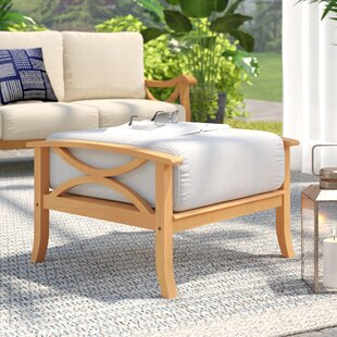 Birch Lane™ Brunswick Outdoor Teak Otto..