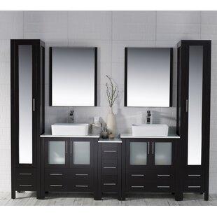 Mance 103 Double Bathroom Vanity Set with Mirror By Orren Ellis