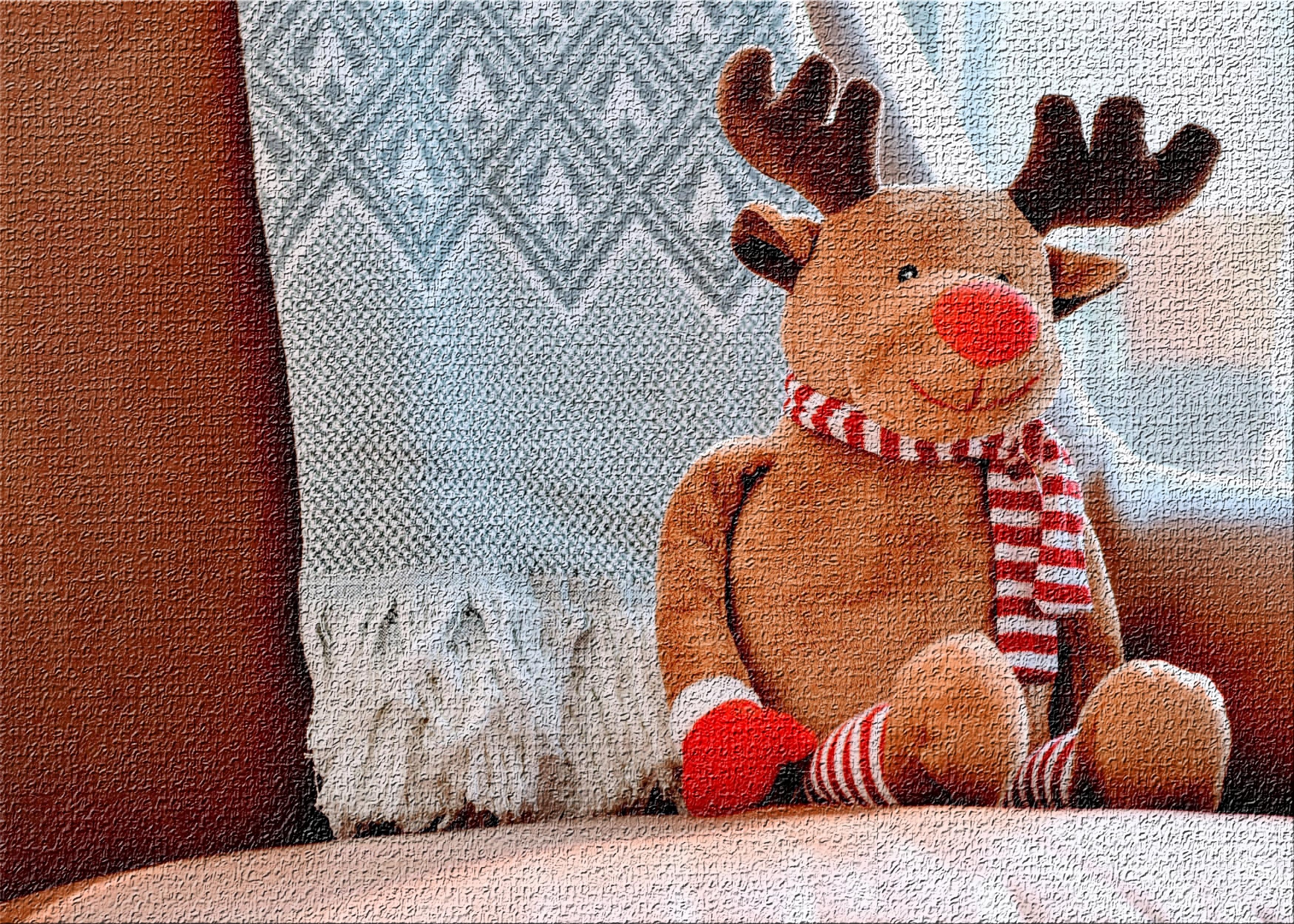East Urban Home Christmas Deer Orange Area Rug Wayfair