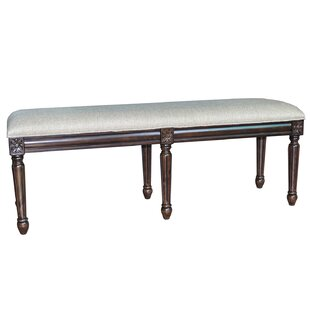 The Hampton Linen Accent Bench