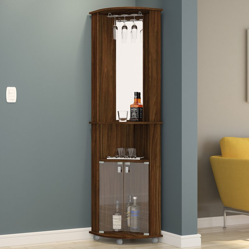 corner bar furniture. Corner Bar Cabinet With Mirrored Wall Furniture N