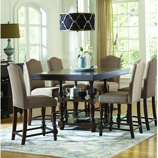 Scoggins 7 Piece Counter Height Solid Wood Dining Set