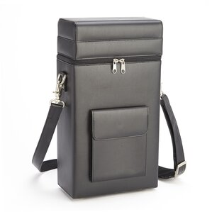 Royce Leather Double Wine Carrying Case in Bonded Leather