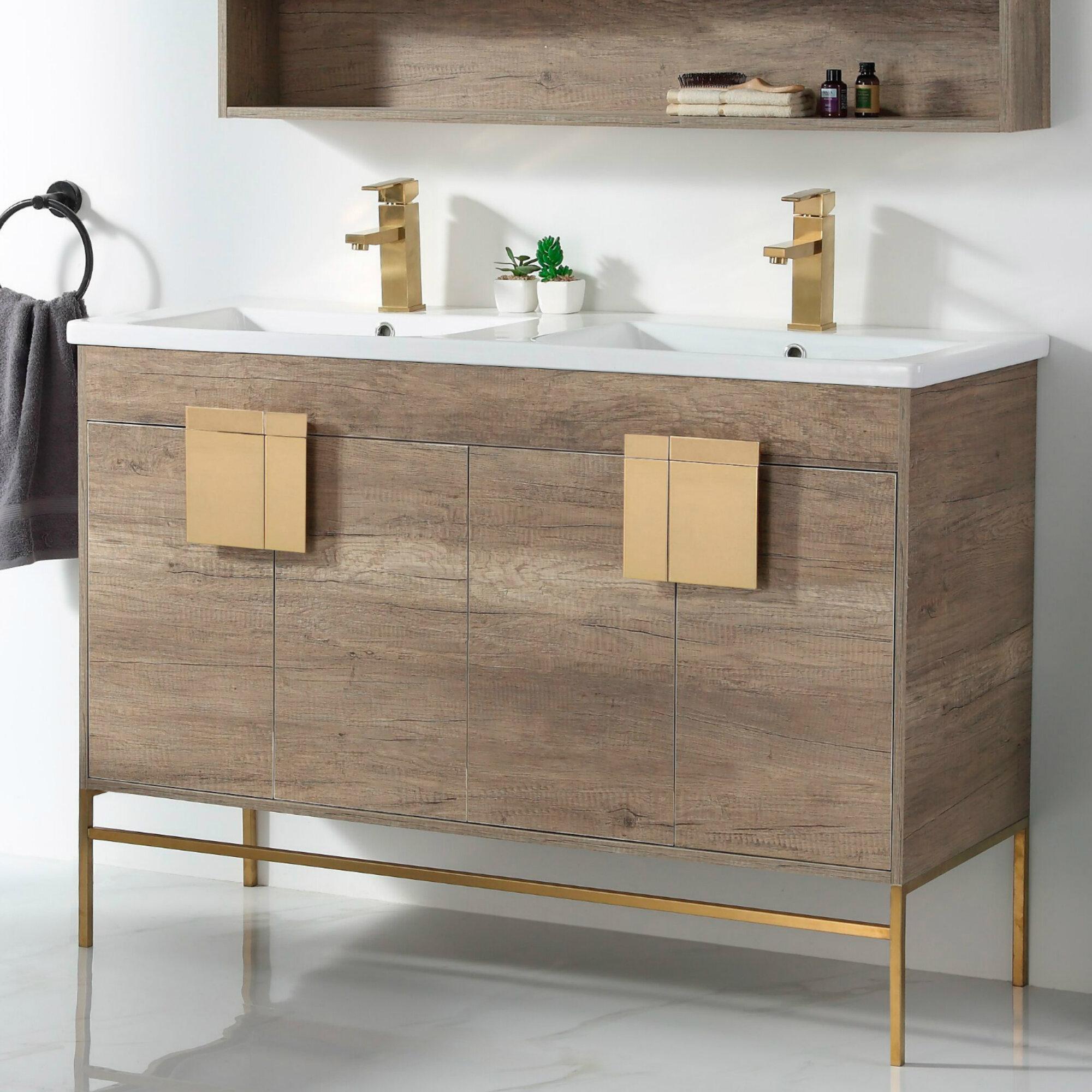 Lee 48 Double Bathroom Vanity Set Reviews Allmodern