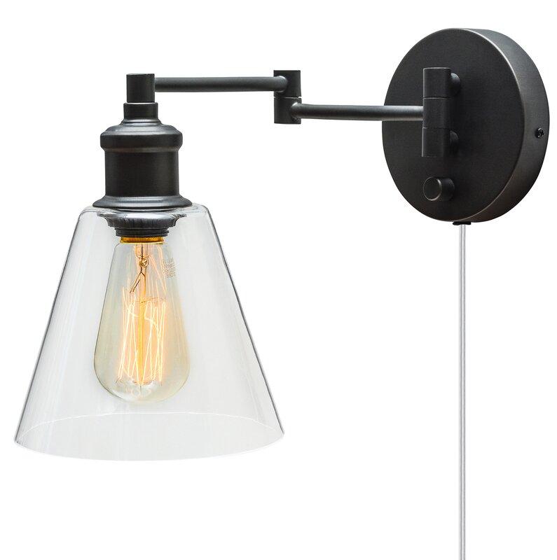 Aidan 1 Light Swing Arm Lamp