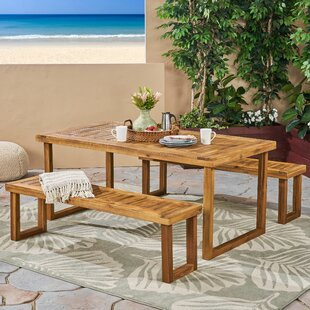 Kampmann Outdoor 3 Piece Dining Set by Union Rustic