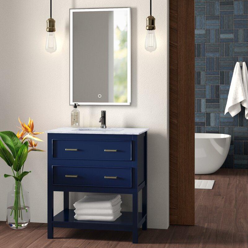 "wrought studio unique 30"" single bathroom vanity set & reviews | wayfair"