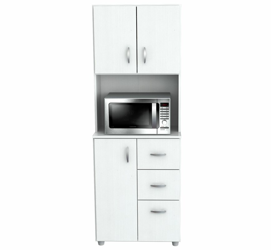 white kitchen pantry cabinet.  Pantry Cabinets You ll Love Wayfair