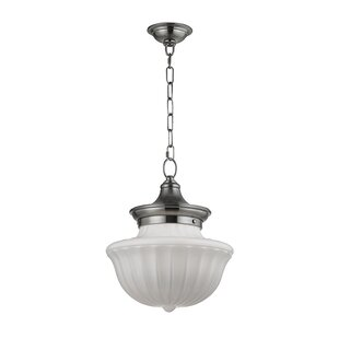 Emmett 1-Light Schoolhouse Pendant by Darby Home Co