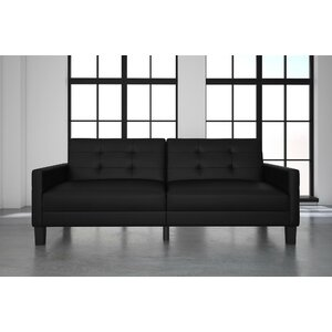 Anabelle Faux Leather Convertible Sofa