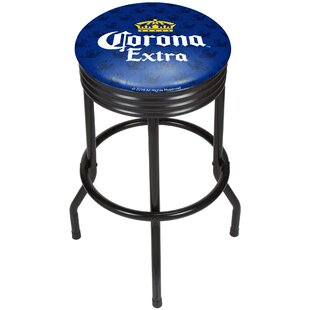 Corona Griffin Ribbed 28.5 Swivel Bar Stool Trademark Global