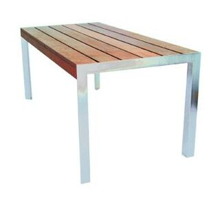 Modern Outdoor Etra Stainless Steel Dining Table