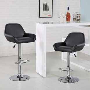 Compare prices Mckenzie Adjustable Height Swivel Bar Stool by Orren Ellis Reviews (2019) & Buyer's Guide