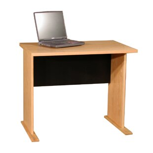 Modular Real Oak Wood Veneer Furniture Desk Shell In Oak by Rush Furniture #1